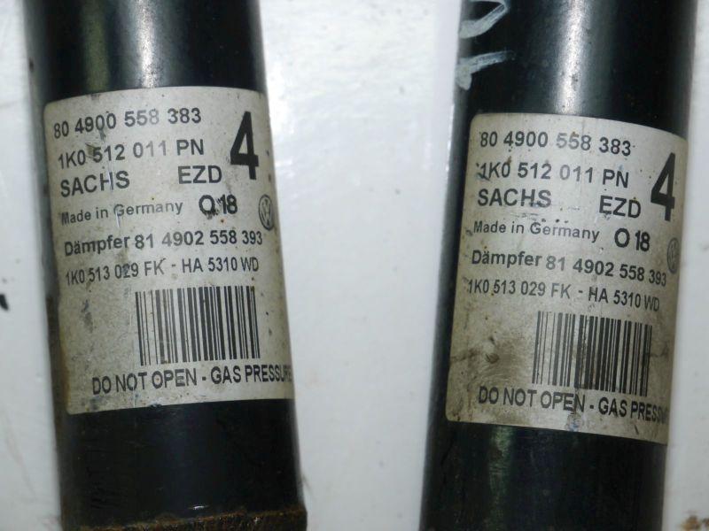 Stoßdämpfer hintenVW GOLF PLUS (5M1, 521) 1.4 TSI