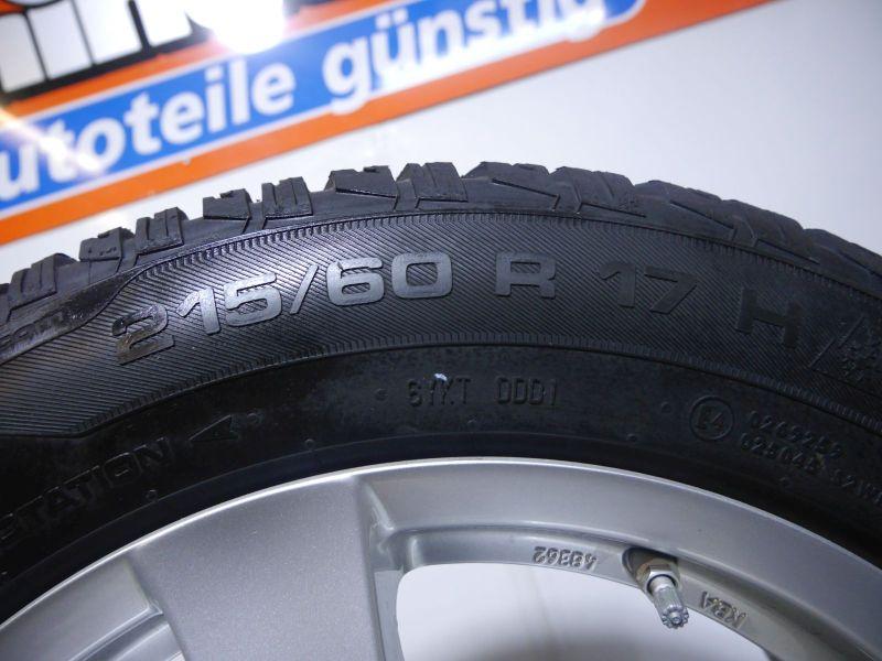 Komplettrad:215/60 R17 96H Auf Aluminiumfelge 7JX17 H2 ET42 LK5X105X56,61Satz(je4Stück)